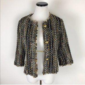 cAbi Tweed Boxy Blazer Jacket Black M